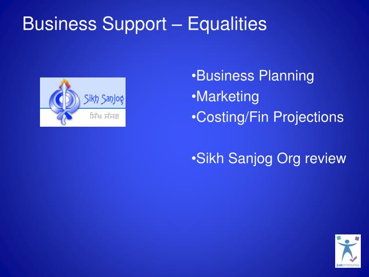 Business Support – Equalities