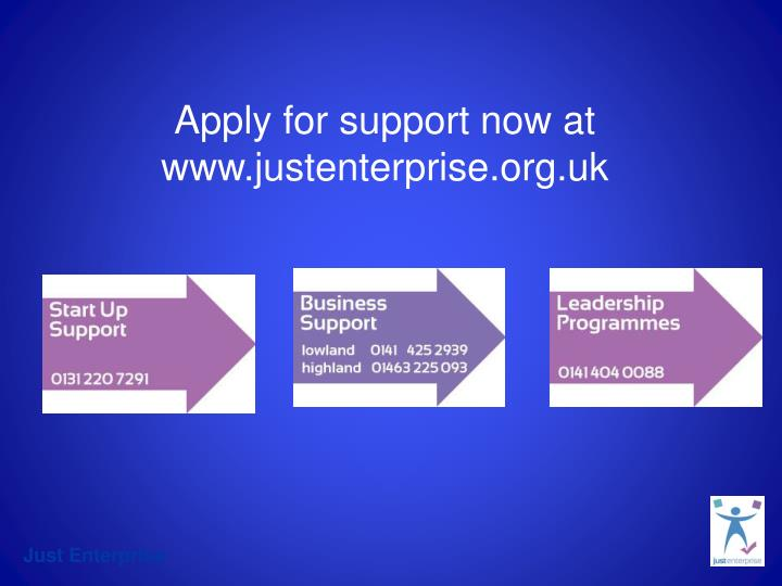 Apply for support now at