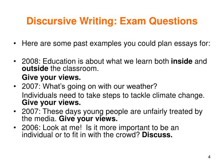steps to write a discursive essay