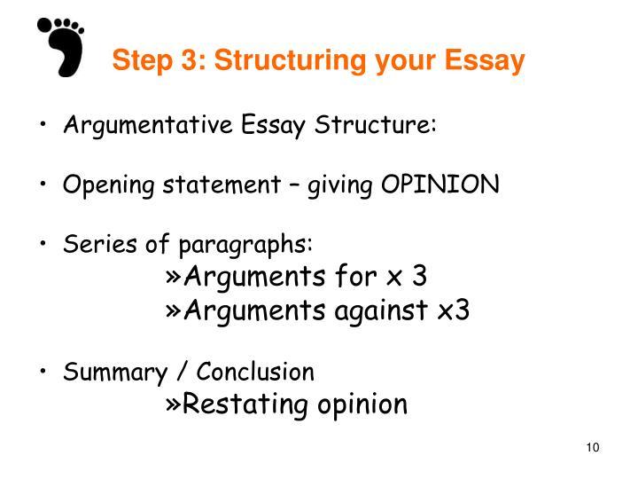 essays structuring essays