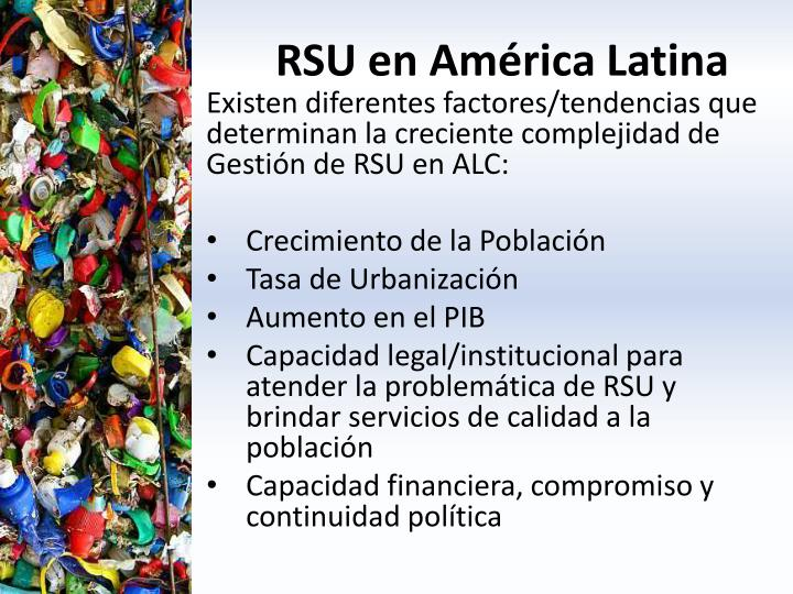 Rsu en am rica latina