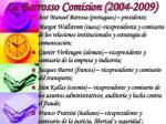 la barrosso comision 2004 2009