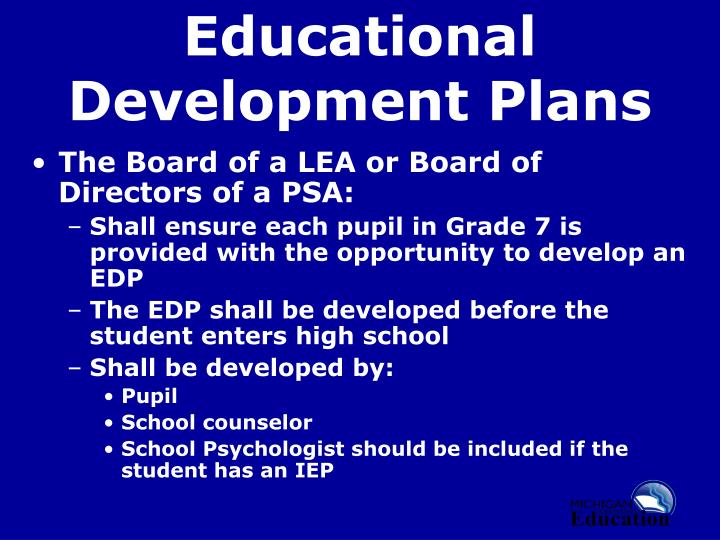 Educational Development Plans