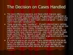 the decision on cases handled2