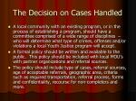 the decision on cases handled3