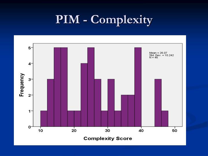PIM - Complexity