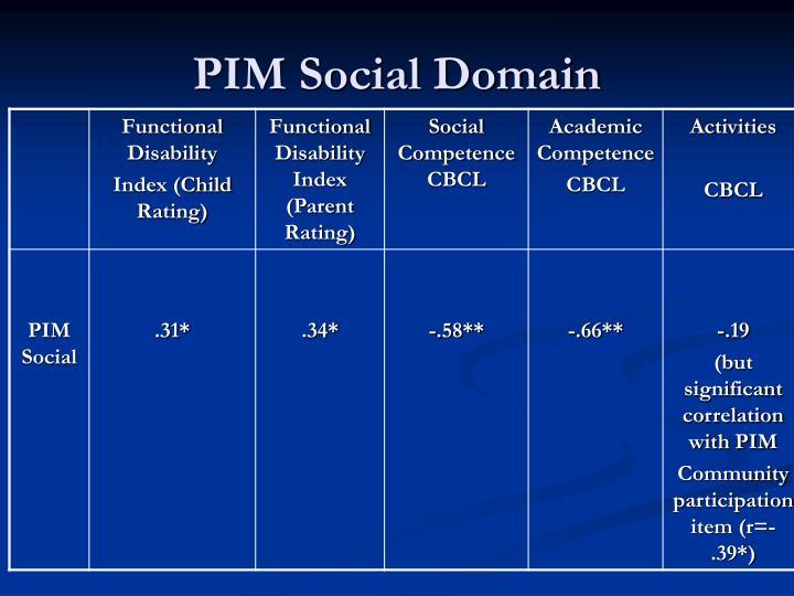 PIM Social Domain