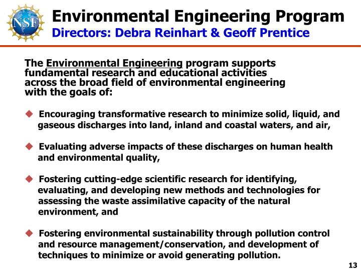Environmental Engineering Program