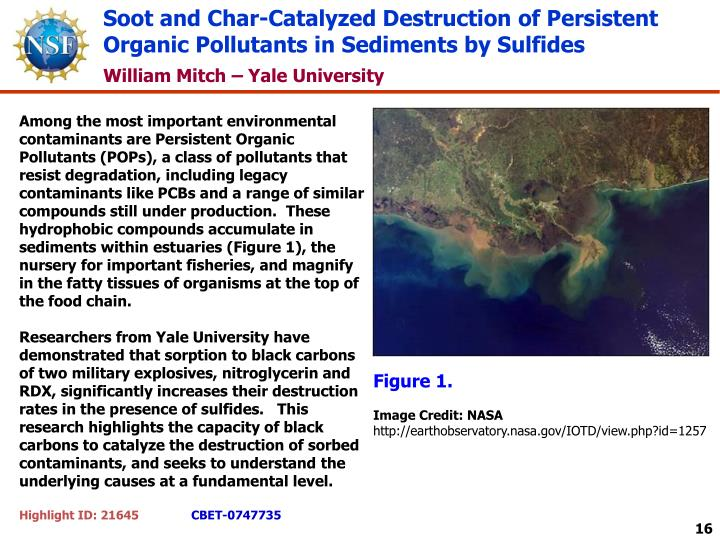 Soot and Char-Catalyzed Destruction of Persistent Organic Pollutants in Sediments by Sulfides