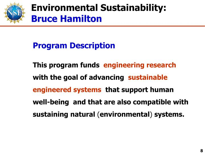 Environmental Sustainability: