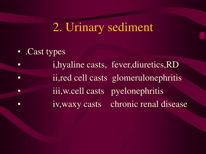 2. Urinary sediment