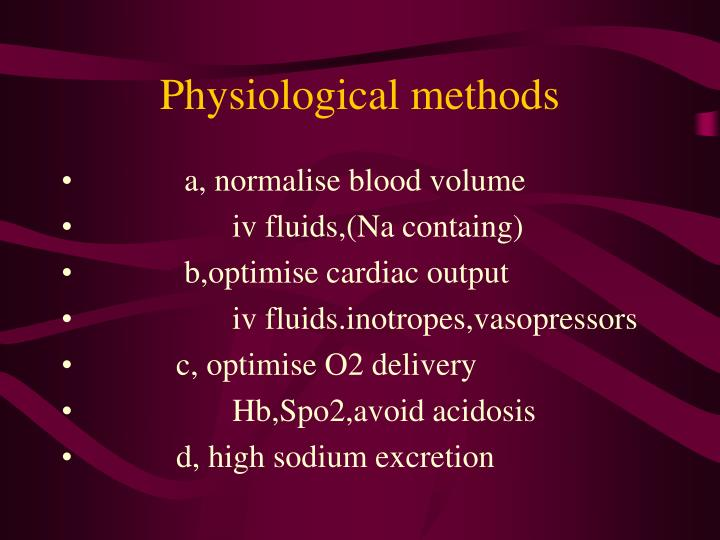 Physiological methods