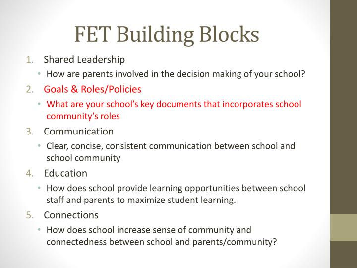 FET Building Blocks