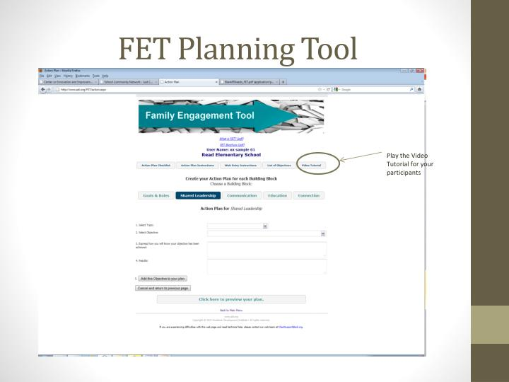 FET Planning Tool