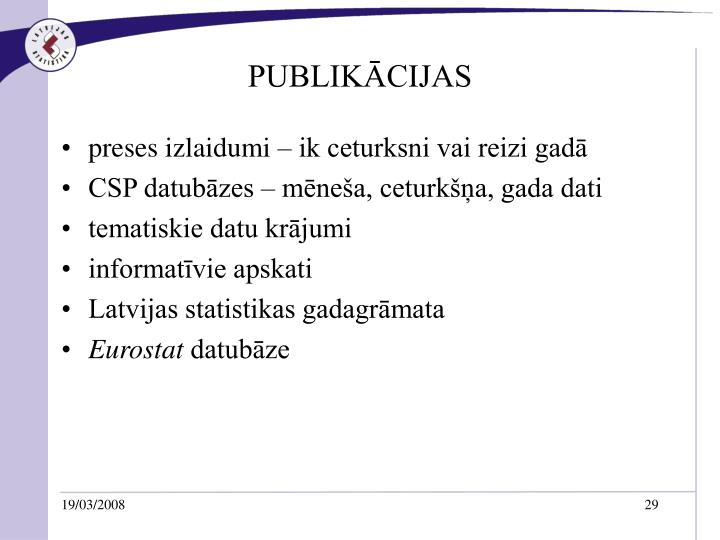 PUBLIKĀCIJAS