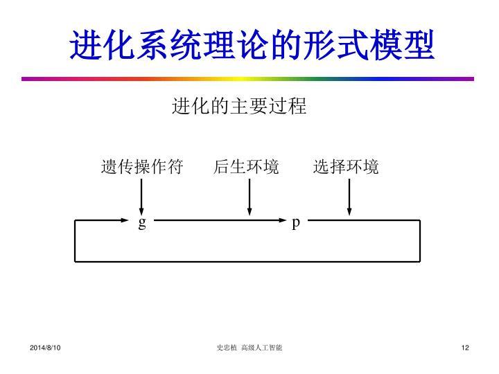 进化系统理论的形式模型