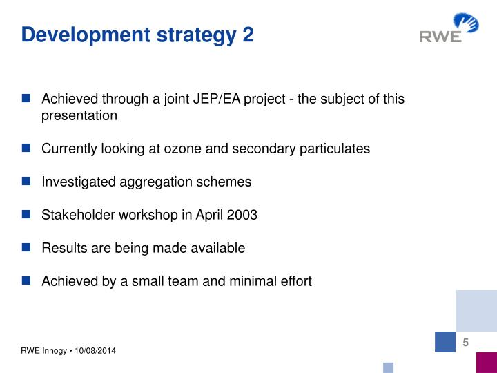 Development strategy 2