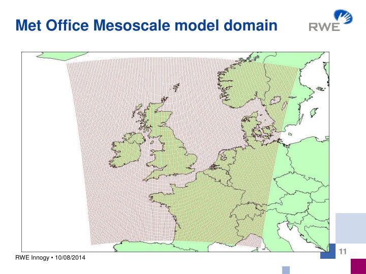 Met Office Mesoscale model domain