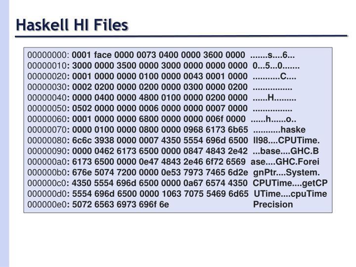 Haskell HI Files