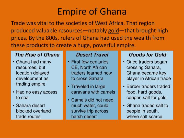 The Rise of Ghana