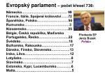 evropsk parlament po et k esel 736