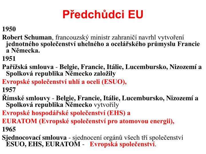 Předchůdci EU