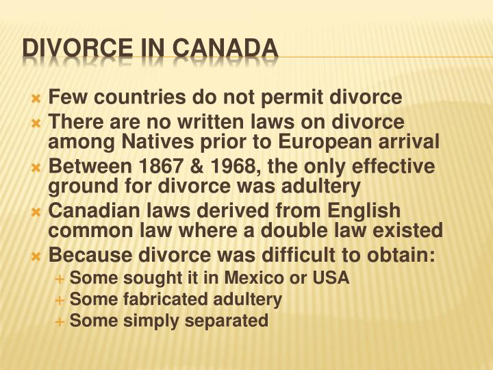 Few countries do not permit divorce