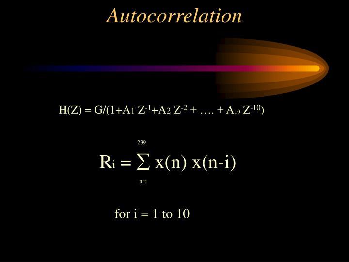 H(Z) = G/(1+A