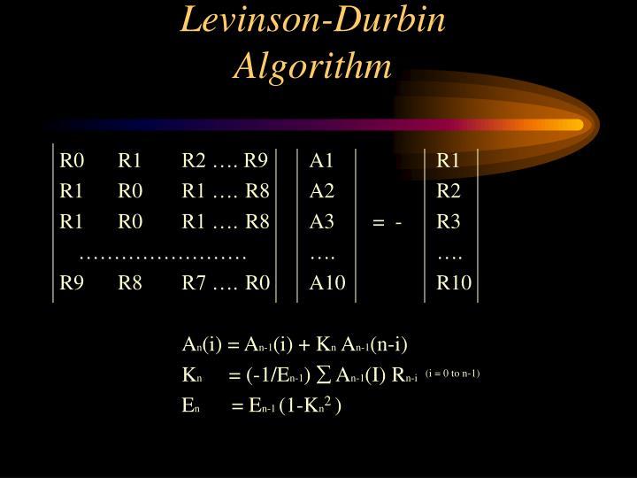 Levinson-Durbin