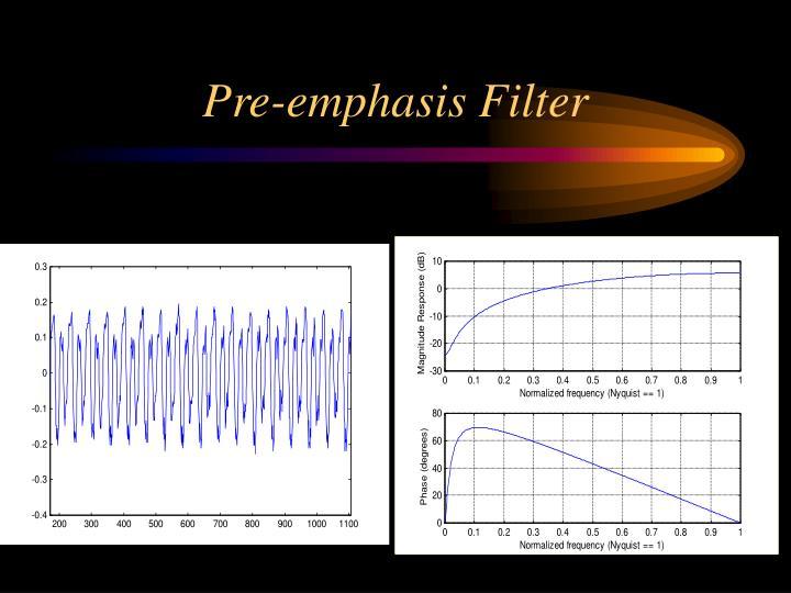 Pre-emphasis Filter