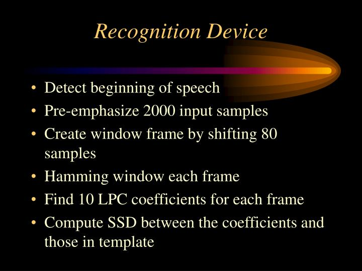 Recognition Device