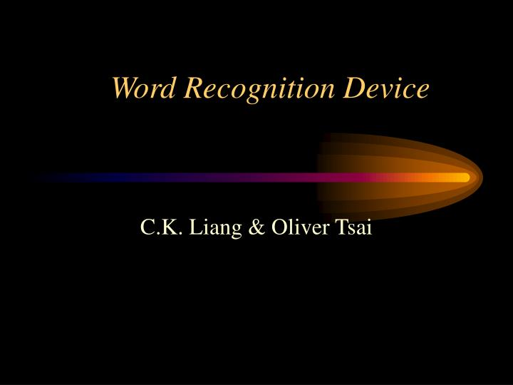 Word Recognition Device