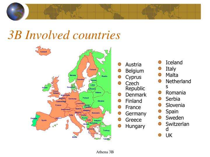 3B Involved countries