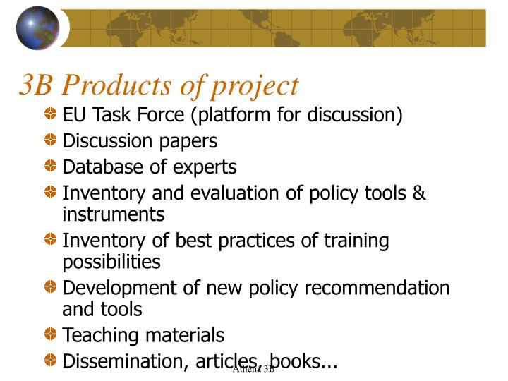 3B Products of project
