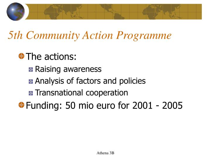 5th Community Action Programme