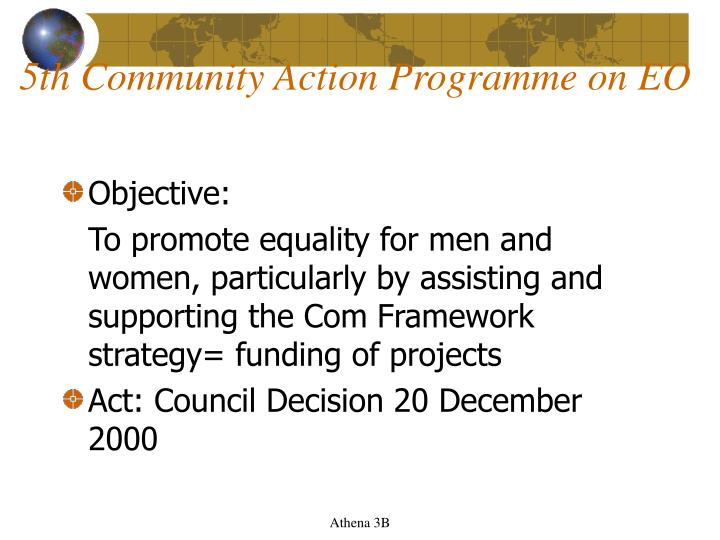 5th Community Action Programme on EO