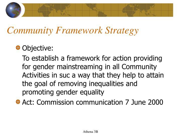 Community Framework Strategy