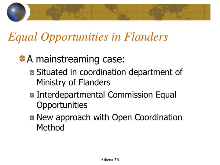 Equal Opportunities in Flanders