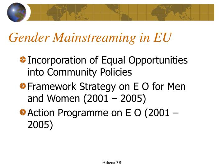 Gender Mainstreaming in EU