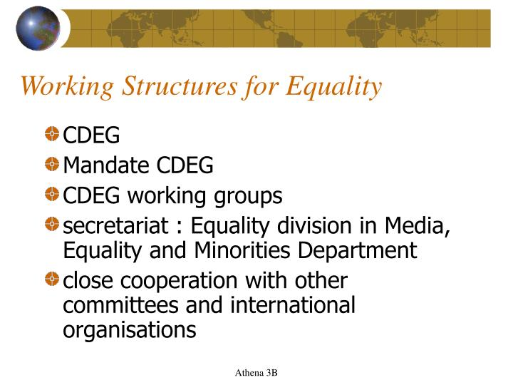 Working Structures for Equality