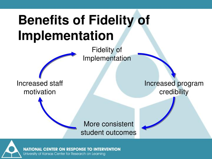 Benefits of Fidelity of Implementation