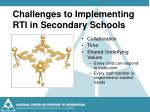 challenges to implementing rti in secondary schools