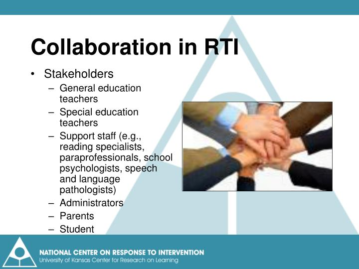 Collaboration in RTI