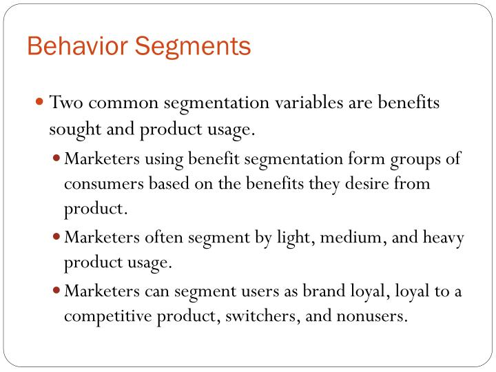 Behavior Segments