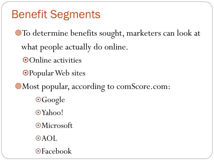 Benefit Segments