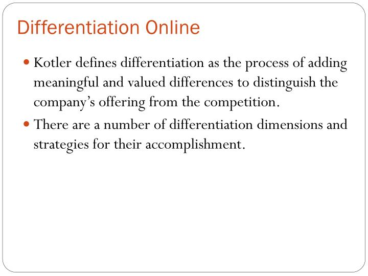 Differentiation Online