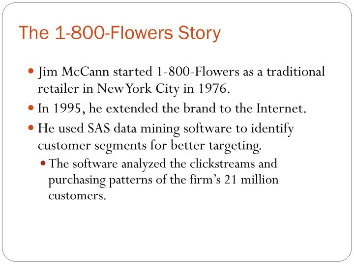 The 1-800-Flowers Story