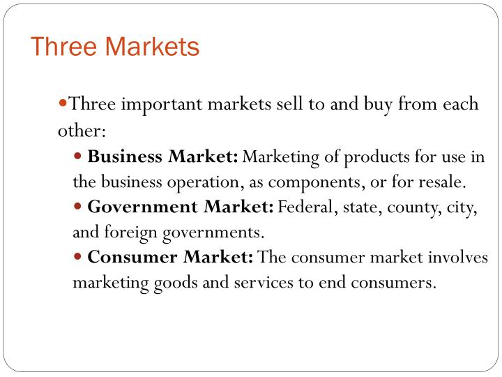 Three Markets