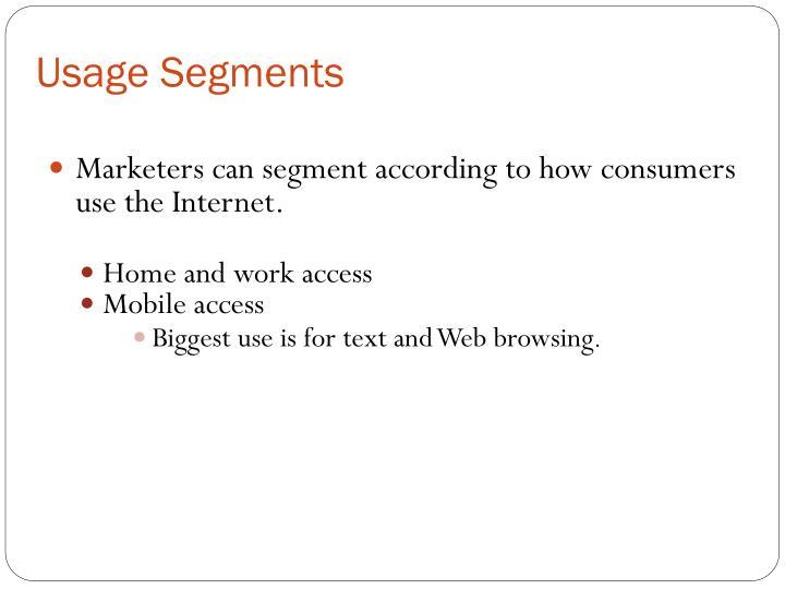 Usage Segments