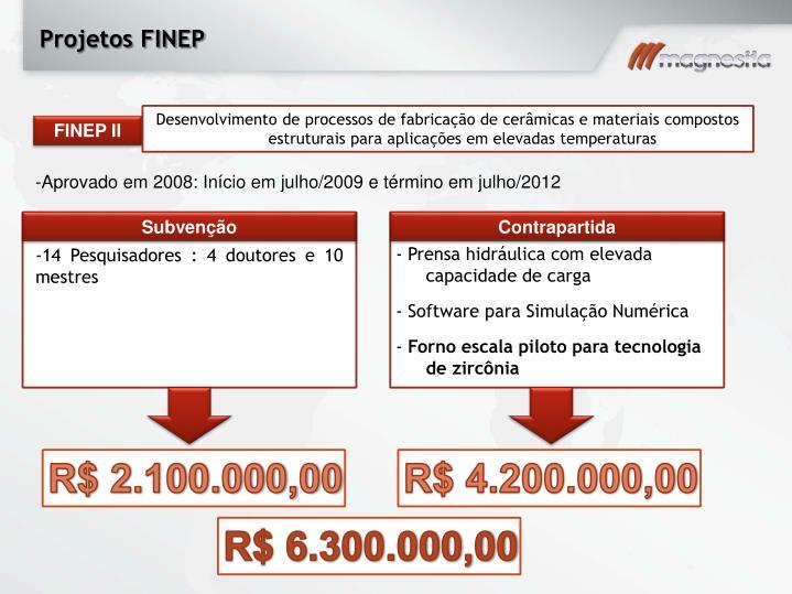 Projetos FINEP